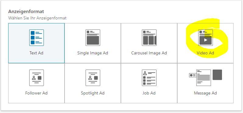 LinkedIn Videoad Anzeigenformat